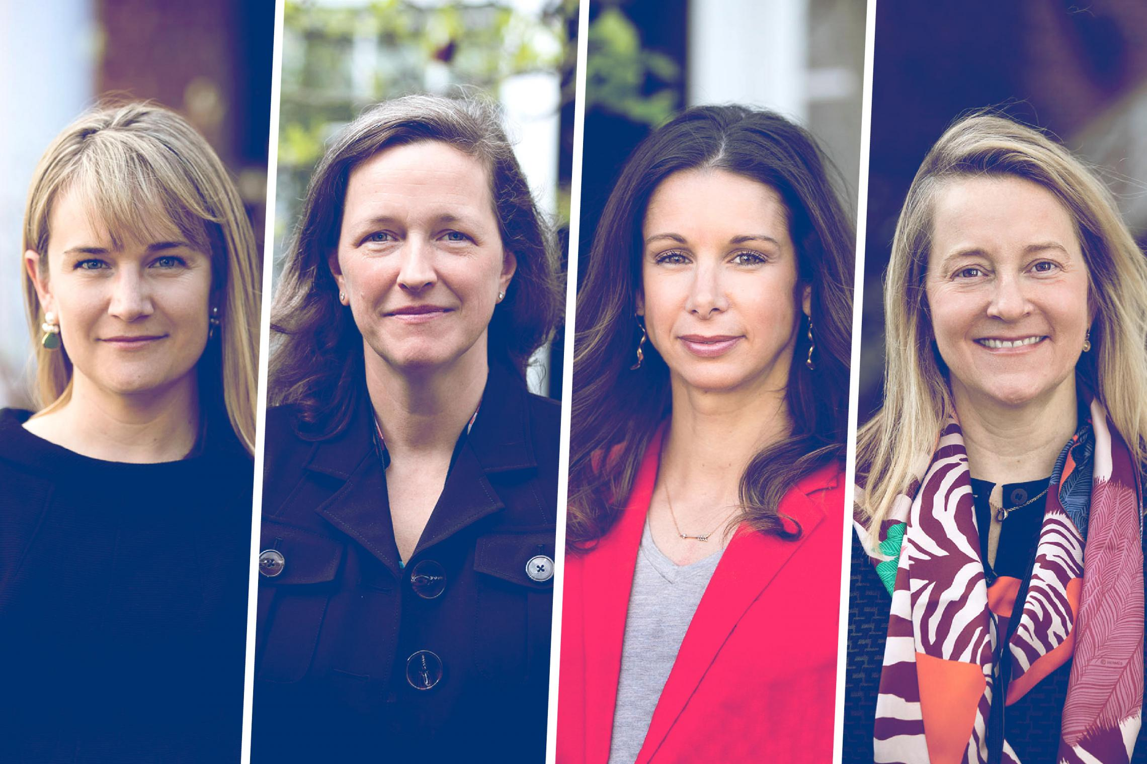From left, Darden alumnae Lisa Parks, Peggy Roberts, Kristin Gunther and Courtney McCarthy.