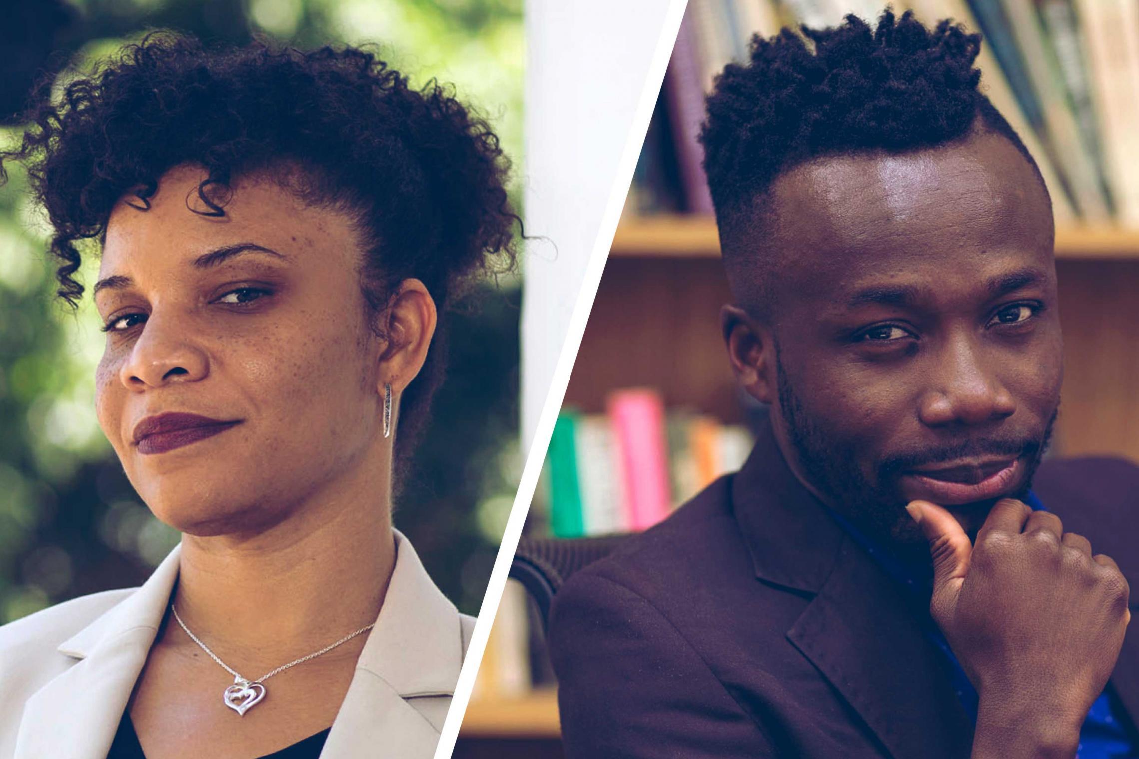 Talitha LeFlouria and Kwame Otu (Photos by Dan Addison/University Communications)