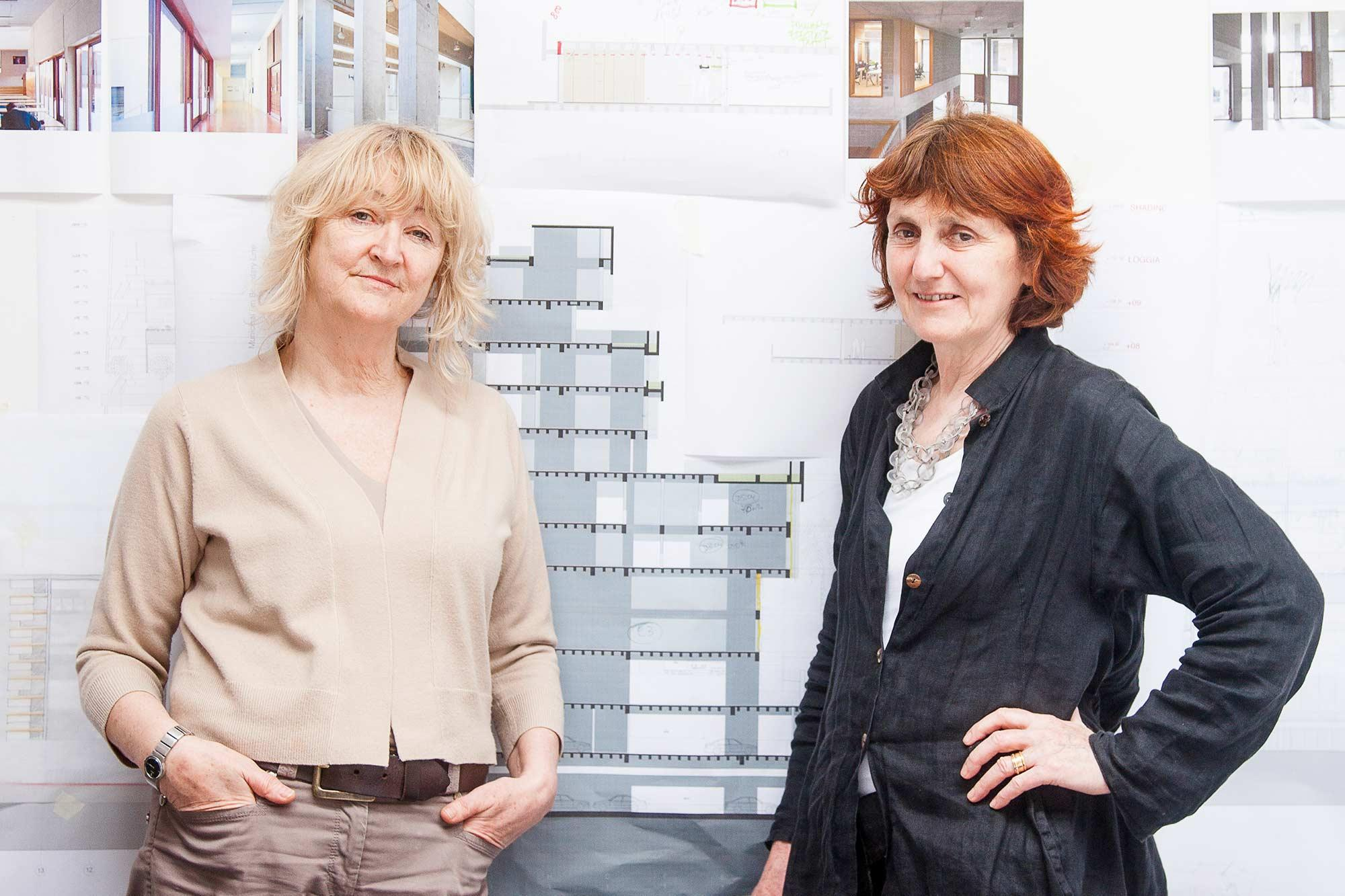 Yvonne Farrell, left, and Shelley McNamara are the 2017 Thomas Jefferson Foundation Medalists in Architecture.
