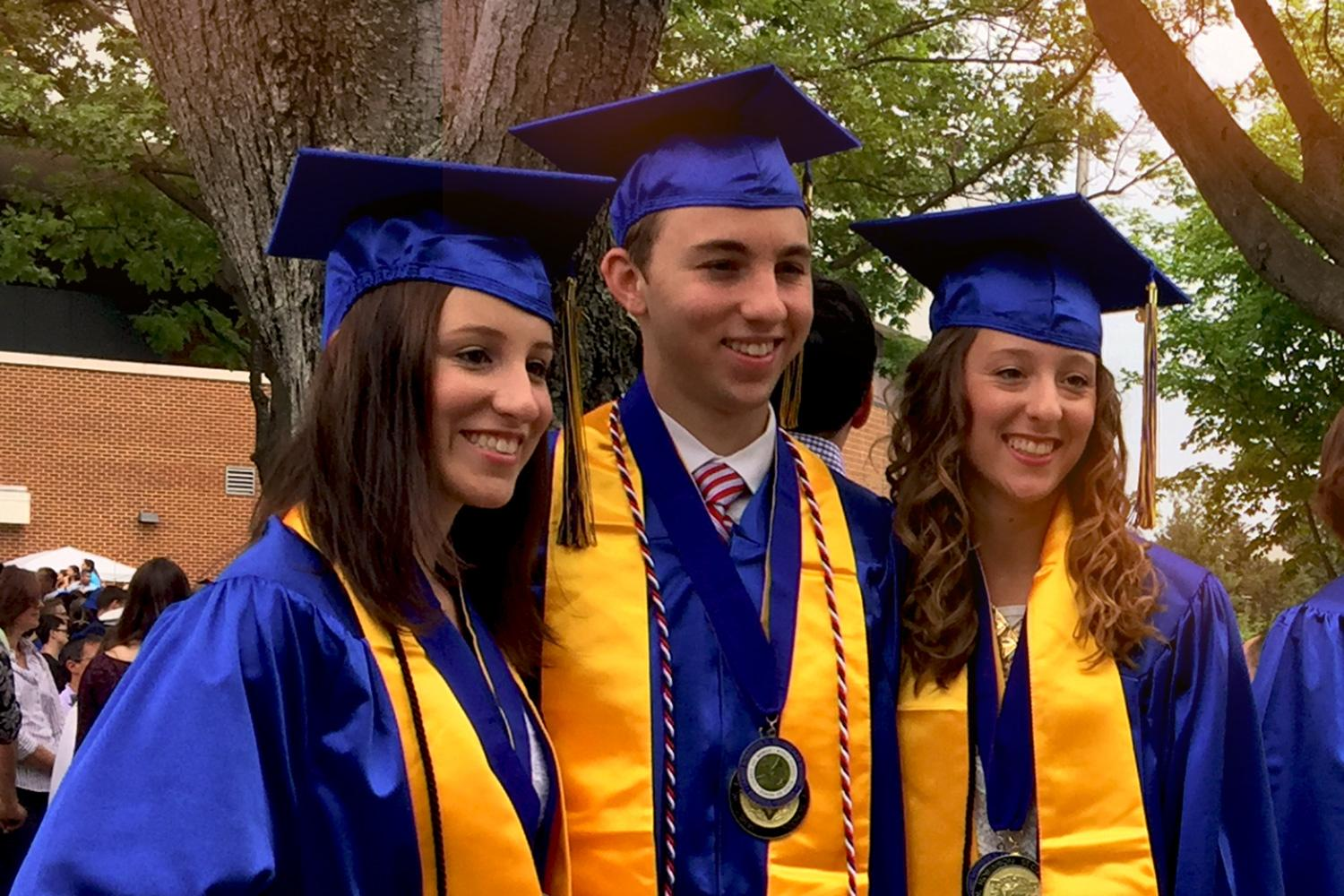 Upon high school graduation, triplets Nina, Noah and Noelle Zorzi all chose to attend the University of Virginia in the fall of 2016. (Submitted photo)