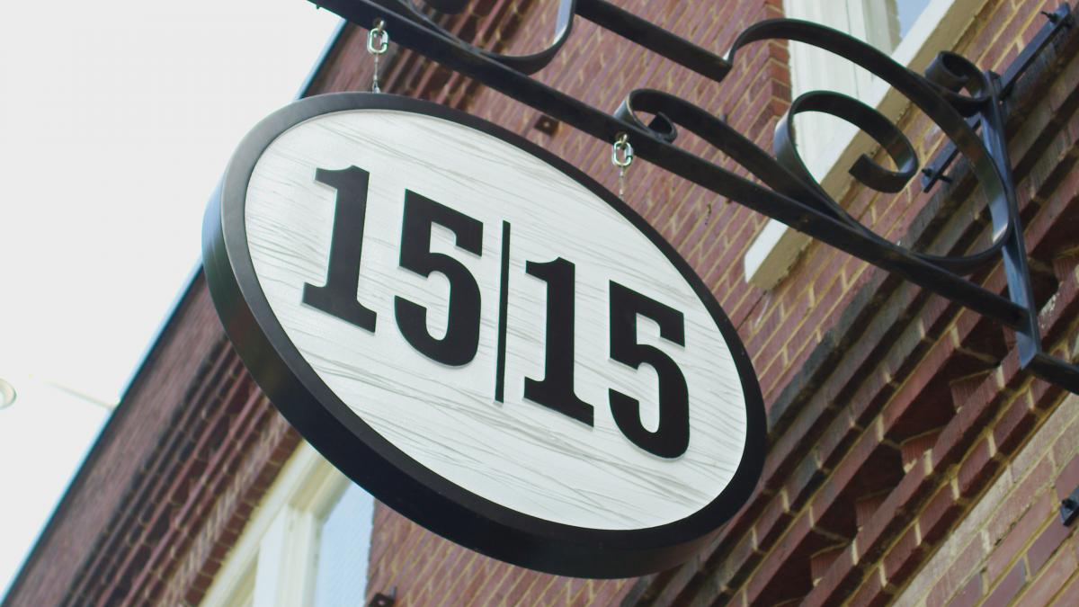 1515 on a storefront sign