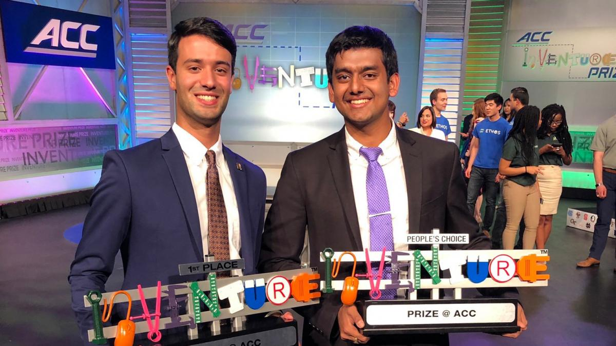 Fourth-year biomedical engineering students Alexander Singh and Rohit Rustagi wowed the judges and a TV audience at the ACC InVenture competition.