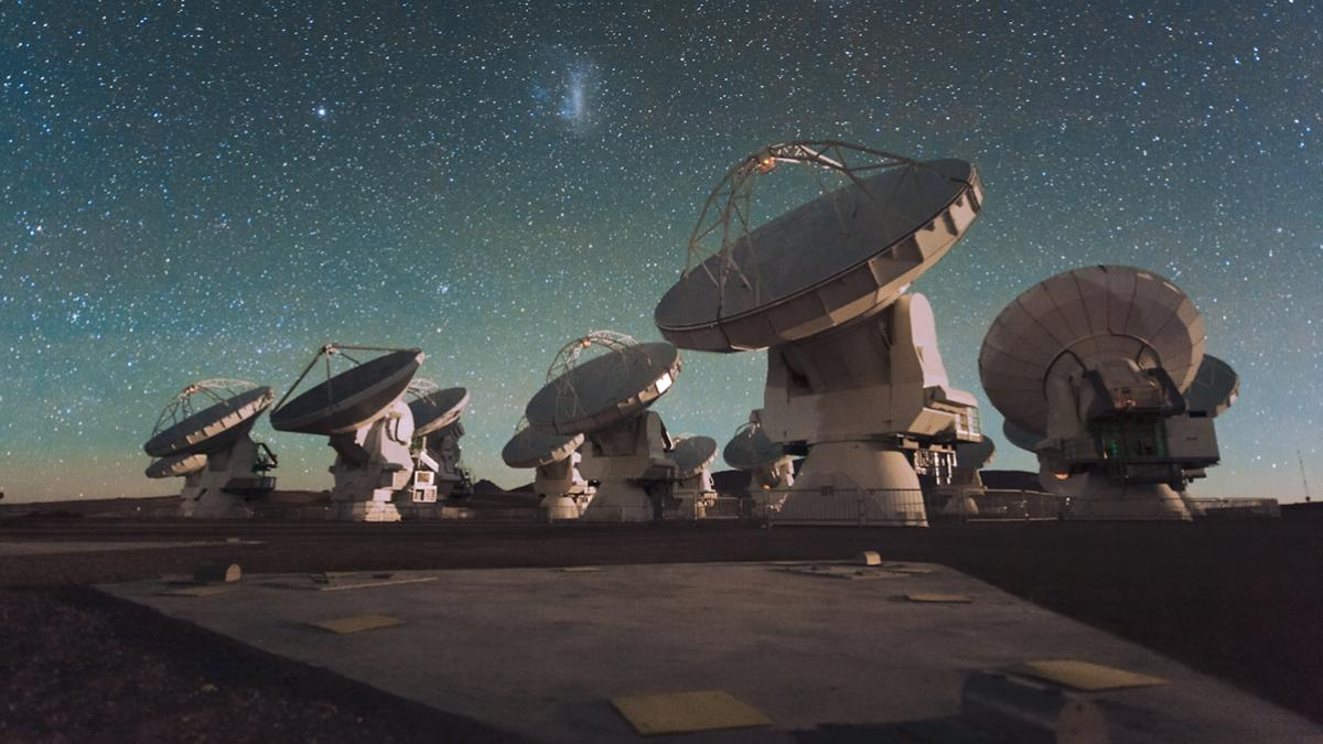 Astronomers and chemists are using radio telescopes, such as the ALMA observatory in Chile, to search for molecules in space.