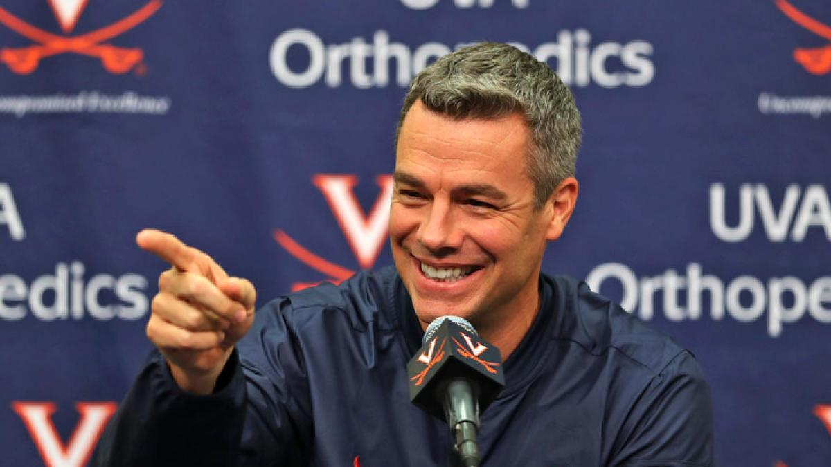 Head coach Tony Bennett has led the Cavaliers' steady ascent in the college basketball world. UVA is ranked No. 77 in the country headed into the new season, which opens Nov. 11. (Photo by Matt Riley, UVA Athletics)