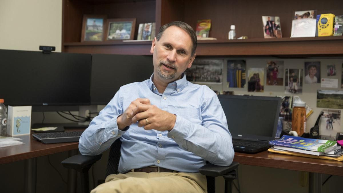 Bill Therrien, a professor of special education, is working on how to train future practitioners in ways that best support children with autism. (Dan Addison, University Communications)