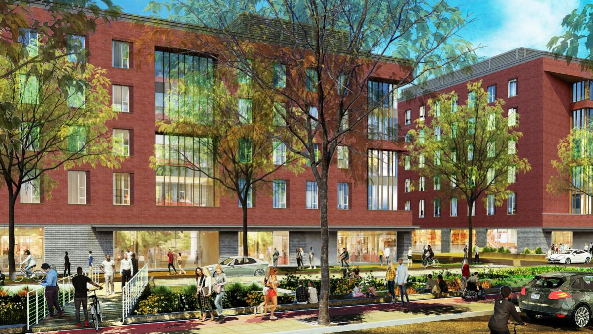 An architect's rendering of a planned upperclass student housing project slated for Brandon Avenue.