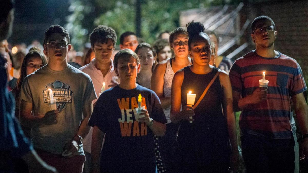 Thousands took to the Lawn Wednesday evening in a public repudiation of hatred, the march planned by students with support from the UVA administration.