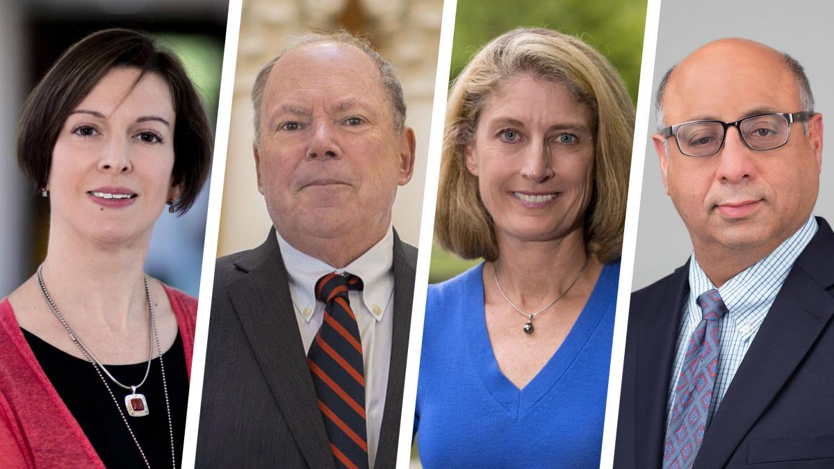 Alison Criss, Phillip Bourne, Karen McGlathery and Dr. Jaideep Kapur head UVA's pan-University institutes.
