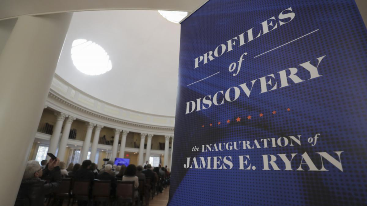 The Profiles in Discovery event was held Friday in the Rotunda Dome Room. (Photo by Sanjay Suchak, University Communications)
