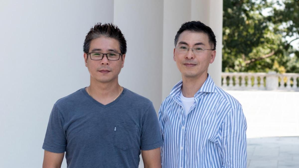Researcher Kwon-Sik Park, right, and colleague Dong-Wook Kim of UVA's Department of Microbiology, Immunology and Cancer Biology created a new model with multiple mutations causing cancer.