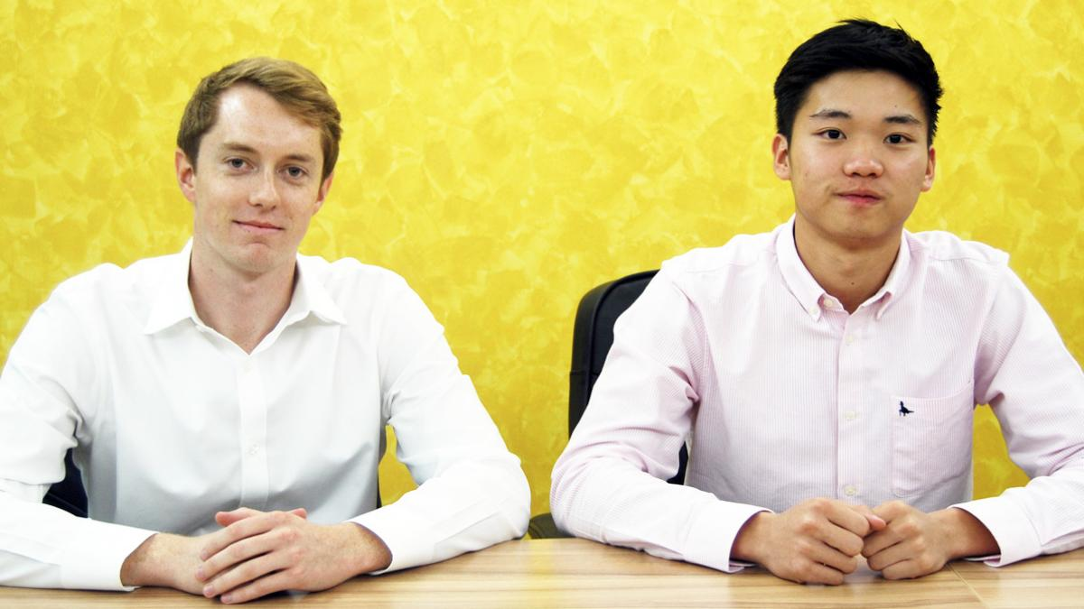 "UVA alumni Keegan Flynn, left and Garvy Beh are the driving forces behind Doctor2U, which Flynn describes as ""Uber for doctors."""