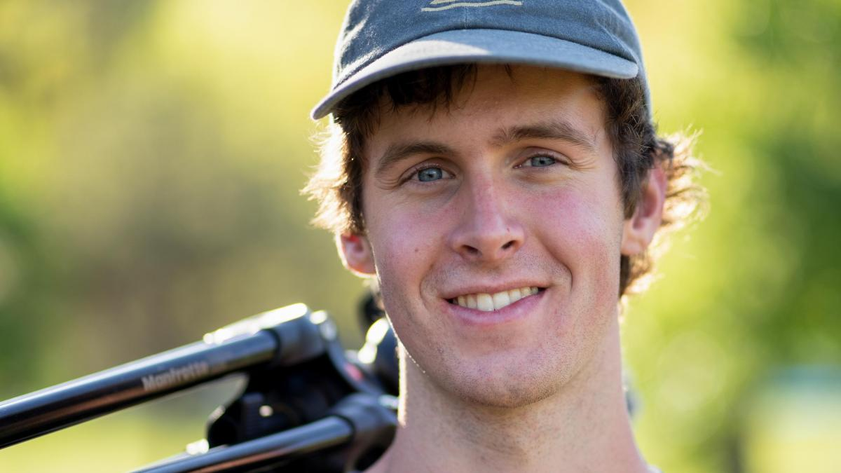 Rising second-year student Jack Anderson created a film to commemorate friend and cyclist Noah Flaxman's graduation.