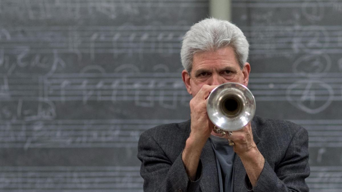 Former student Kait Dunton created an album honoring John D'earth, the longtime director of UVA's jazz performance program. (Photo by Sanjay Suchak, University Communications)