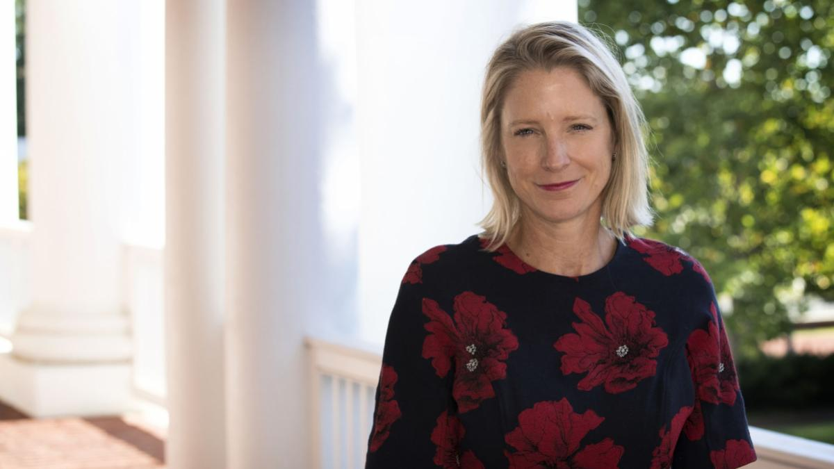 UVA graduate Kristin van Ogtrop served as editor-in-chief of Real Simple magazine for 13 years. She returned to Charlottesville Friday to talk with Darden students about the challenges facing women in business.