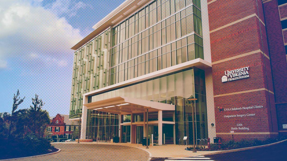The Battle Building, home of the UVA Children's Hospital.