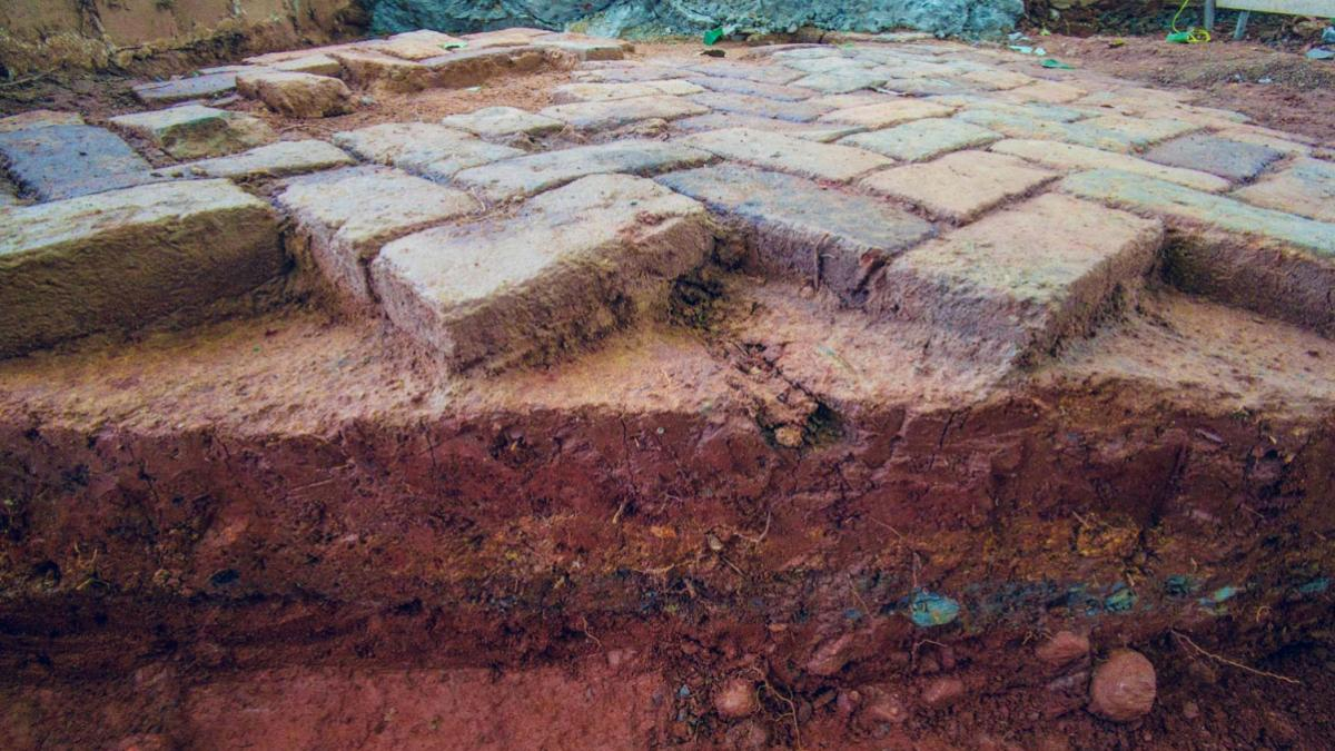 Workers first laid bricks over the walkway in the mid-19th century. They were rediscovered this summer during a resurfacing project.
