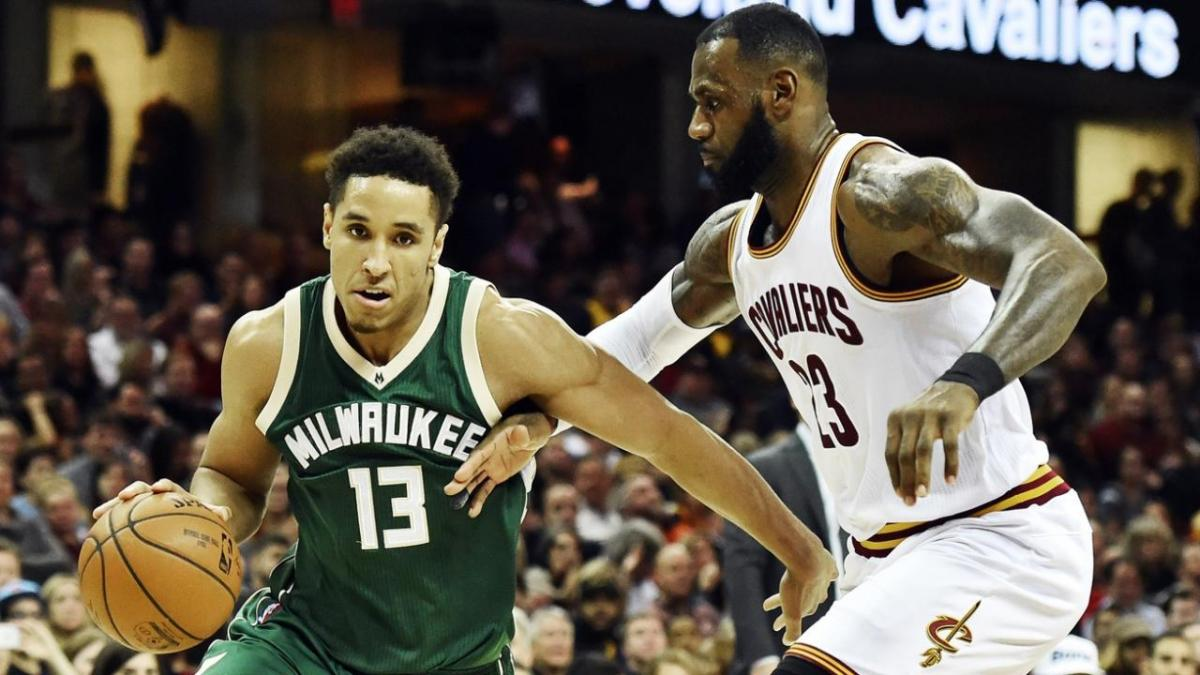 Malcolm Brogdon and Lebron James