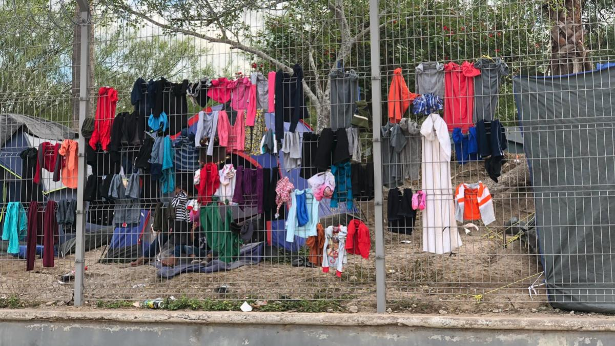 About 3,000 asylum-seekers are currently living in a makeshift refugee camp in Matamoros, Mexico, while their immigration cases are processed in the U.S.