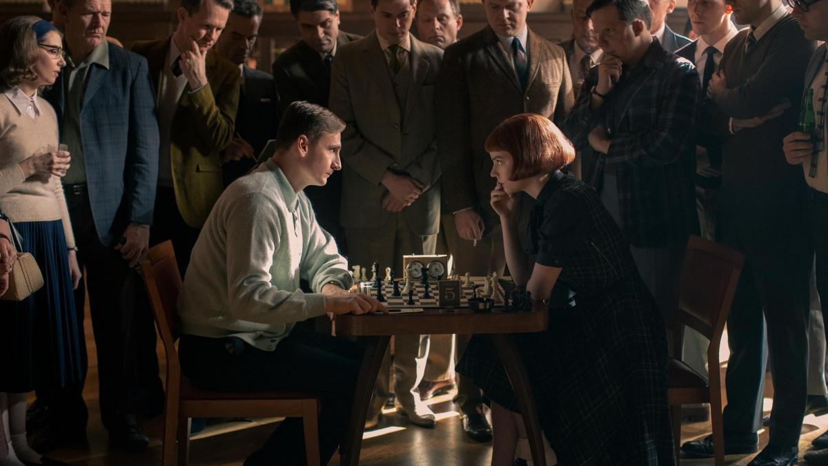 """In the aftermath of the hit Netflix show, """"The Queen's Gambit,"""" UVA Chess Club President Kyle Goldrick said he has been deluged by students interested in joining the club. (Netflix photo)"""