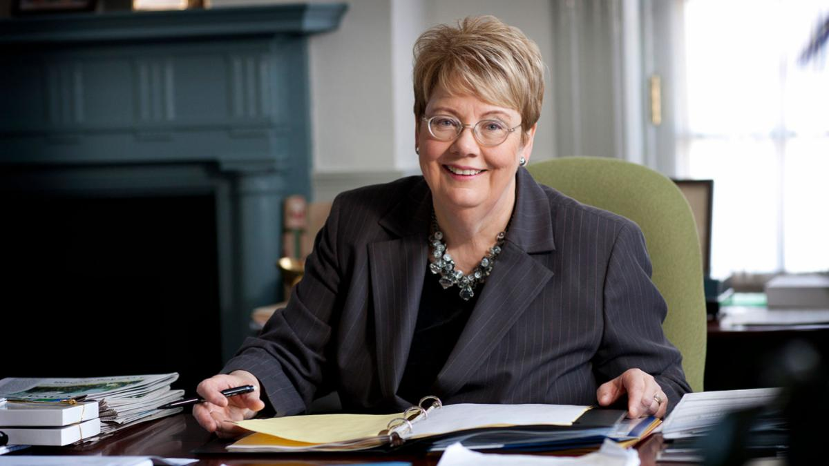 UVA President Teresa A. Sullivan (Photo by Dan Addison, University Communications)