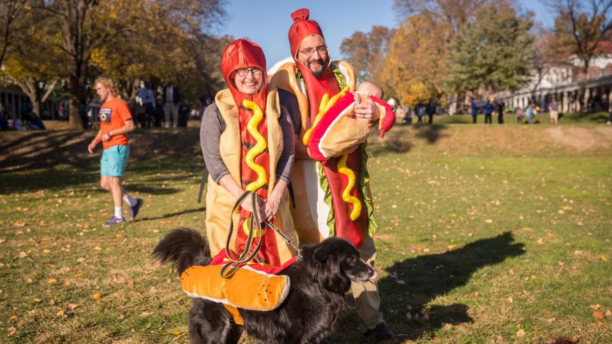 This hot dog family came to last year's Trick or Treating on the Lawn.
