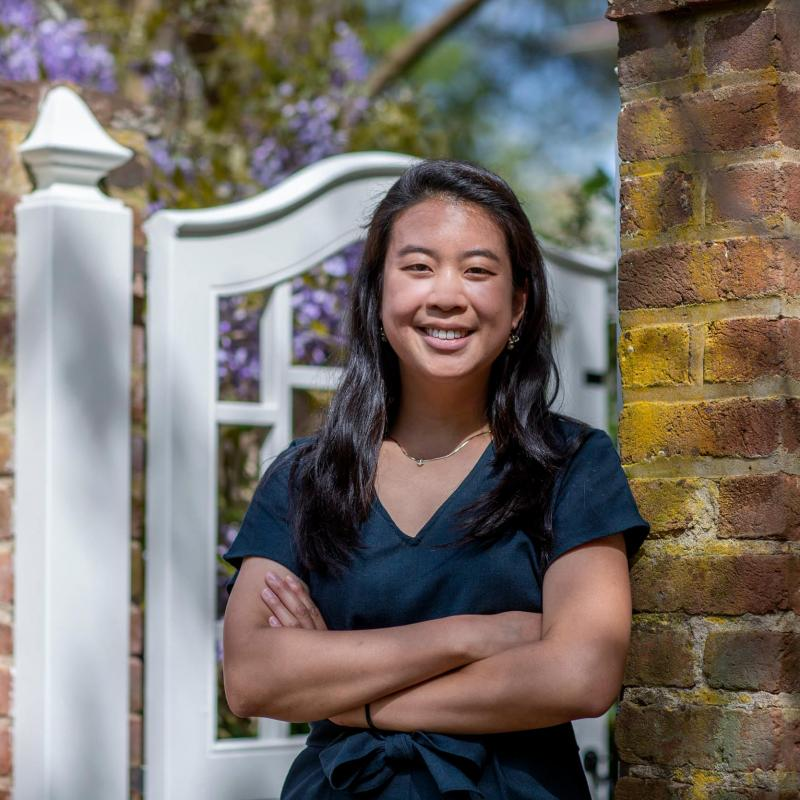 Graduating biomedical engineering student Christina Kim.