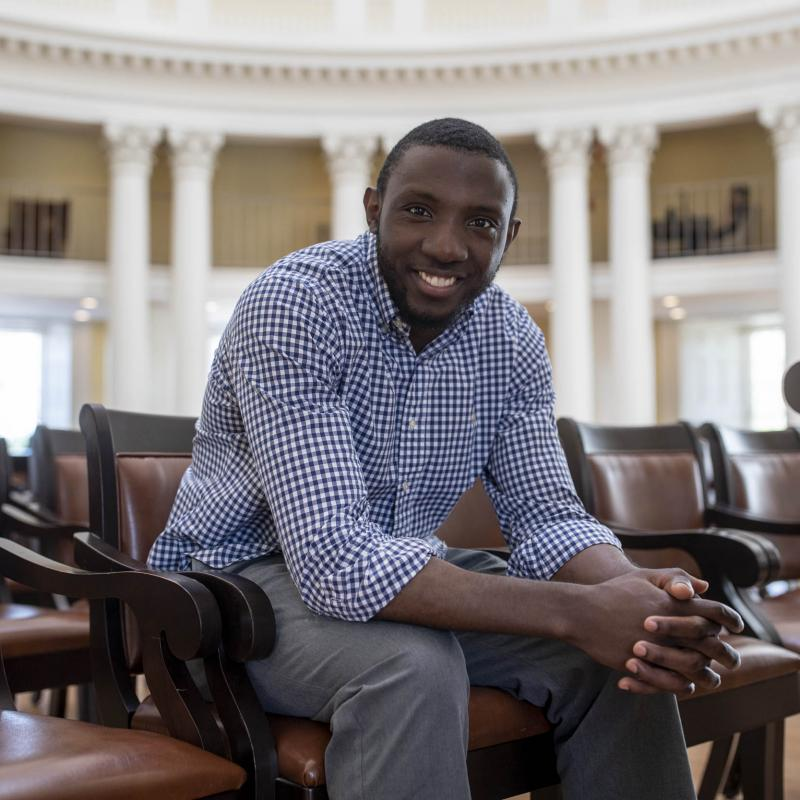 Franck Azobou Tonleu's commitment to service drove his choice to become a doctor.