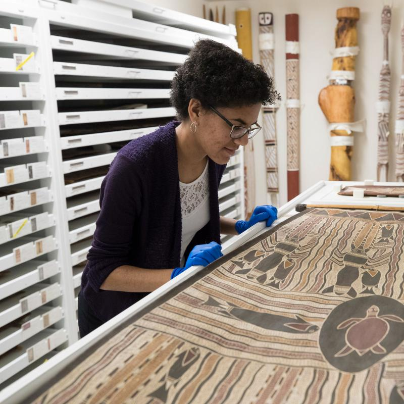 Fourth-year student Gabby Fuller's experience at the Kluge-Ruhe Aboriginal Art Collection inspired a new career path.