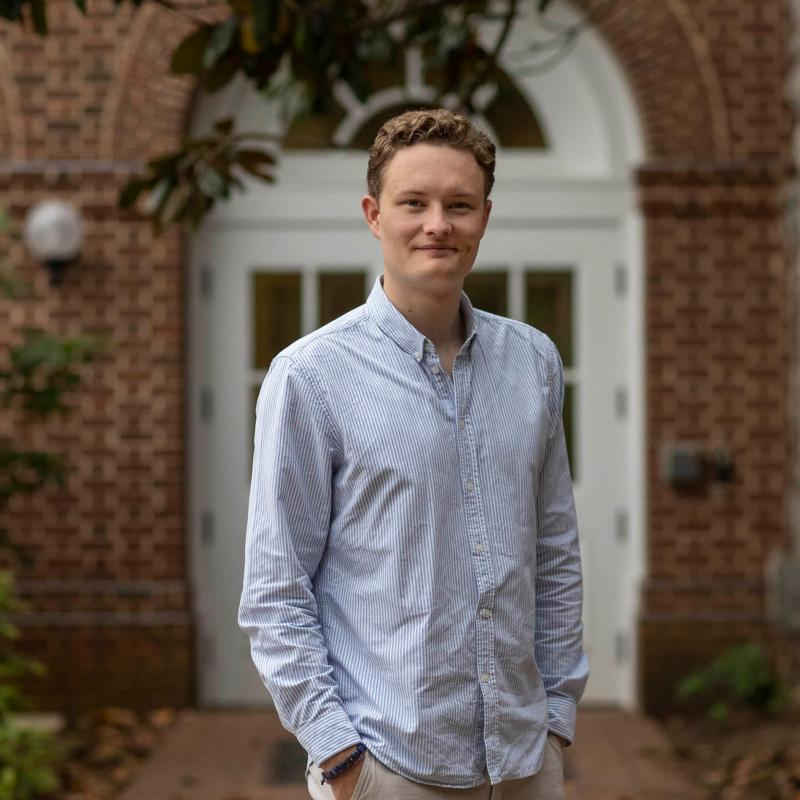 """William Evensen said """"hands down, the most transformative experience"""" he's had has been in the Commerce School's student-run Alternative Investment Fund."""