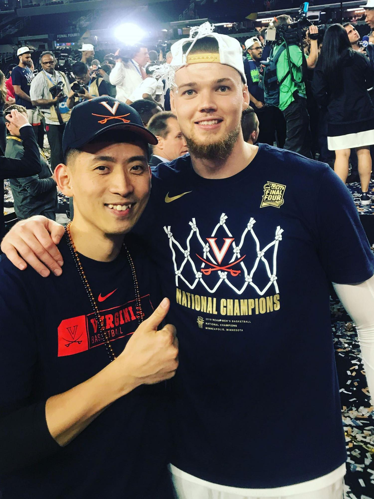 """I didn't cry at the games, but deep inside my heart, the emotions were so strong, especially when we gave each other a big hug after the championship game,"" Sy said. ""It was an amazing feeling."""