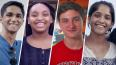 Portraits of students featured in videos