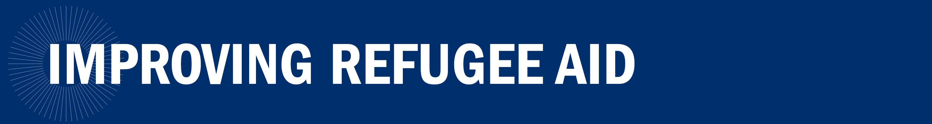 Improving Refugee Aid