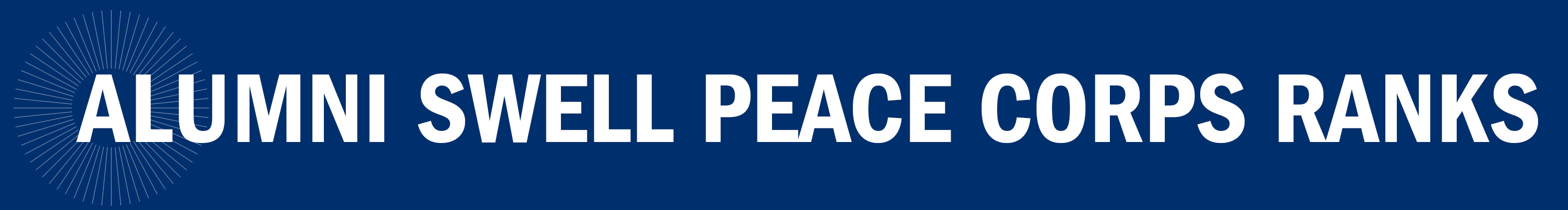 Alumni Swell Peace Corps Ranks