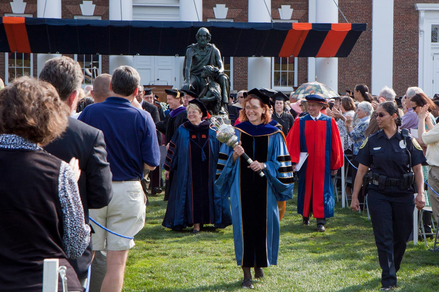 During her presidency, Teresa A. Sullivan advanced faculty hiring, student advising, University budgeting, Rotunda preservation and more.