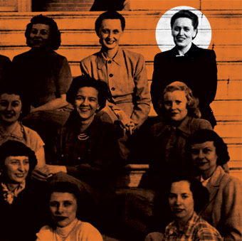 Ruth Taliaferro is pictured with her Kappa Delta sisters at the University of Virginia. She was also a member of the international legal sorority Kappa Beta Pi.