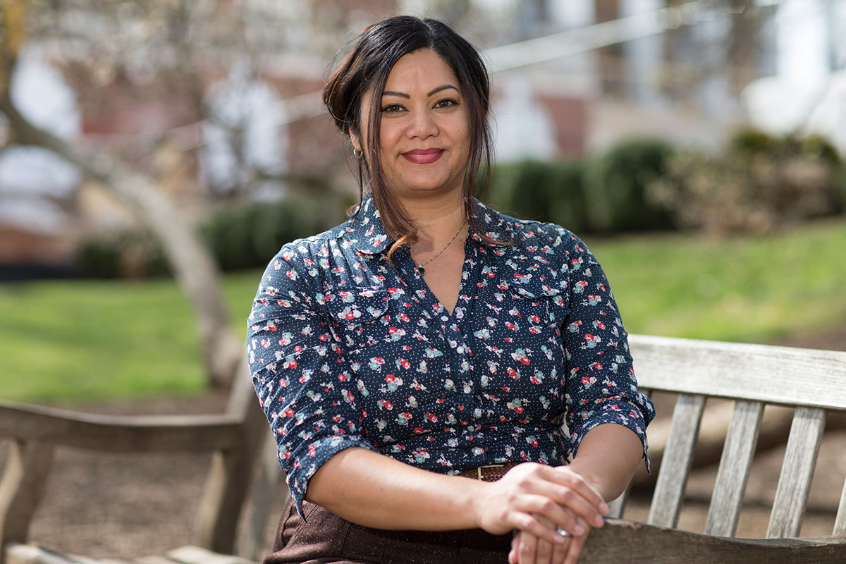 Tanya Wells, a third-year student studying psychology, chose to pursue a degree after the recession deeply affected her family. (Photo by Dan Addison)