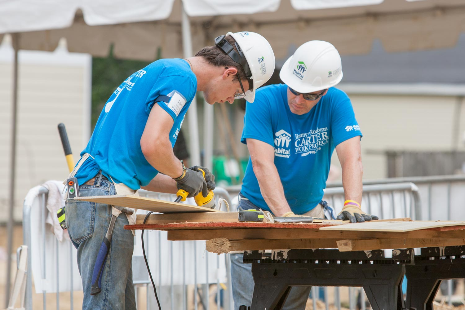 Thompson realized this year that he wanted to devote even more time to Habitat for Humanity.