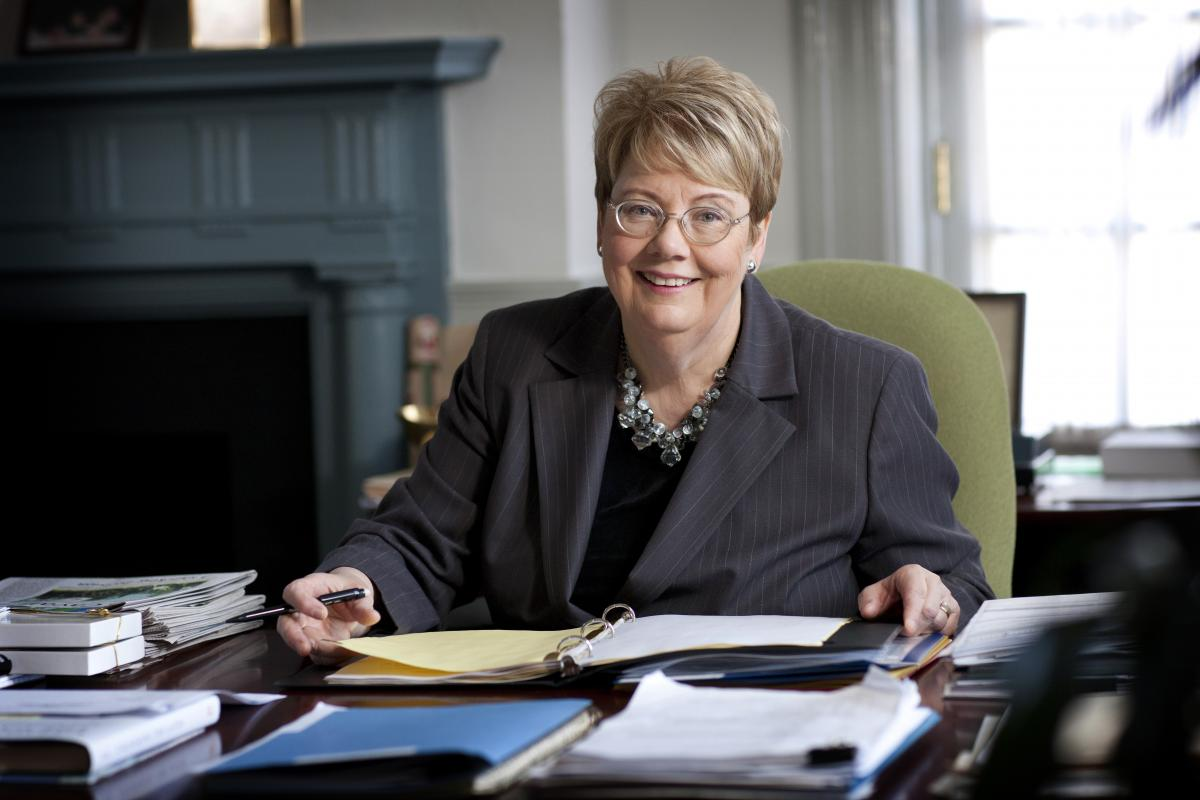UVA's College at Wise honored Sullivan for lending her support and counsel.
