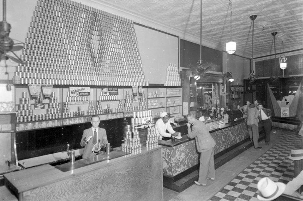 As Jamison's College Store in the 1940s and '50s, the building featured an iconic 16-foot soda fountain.