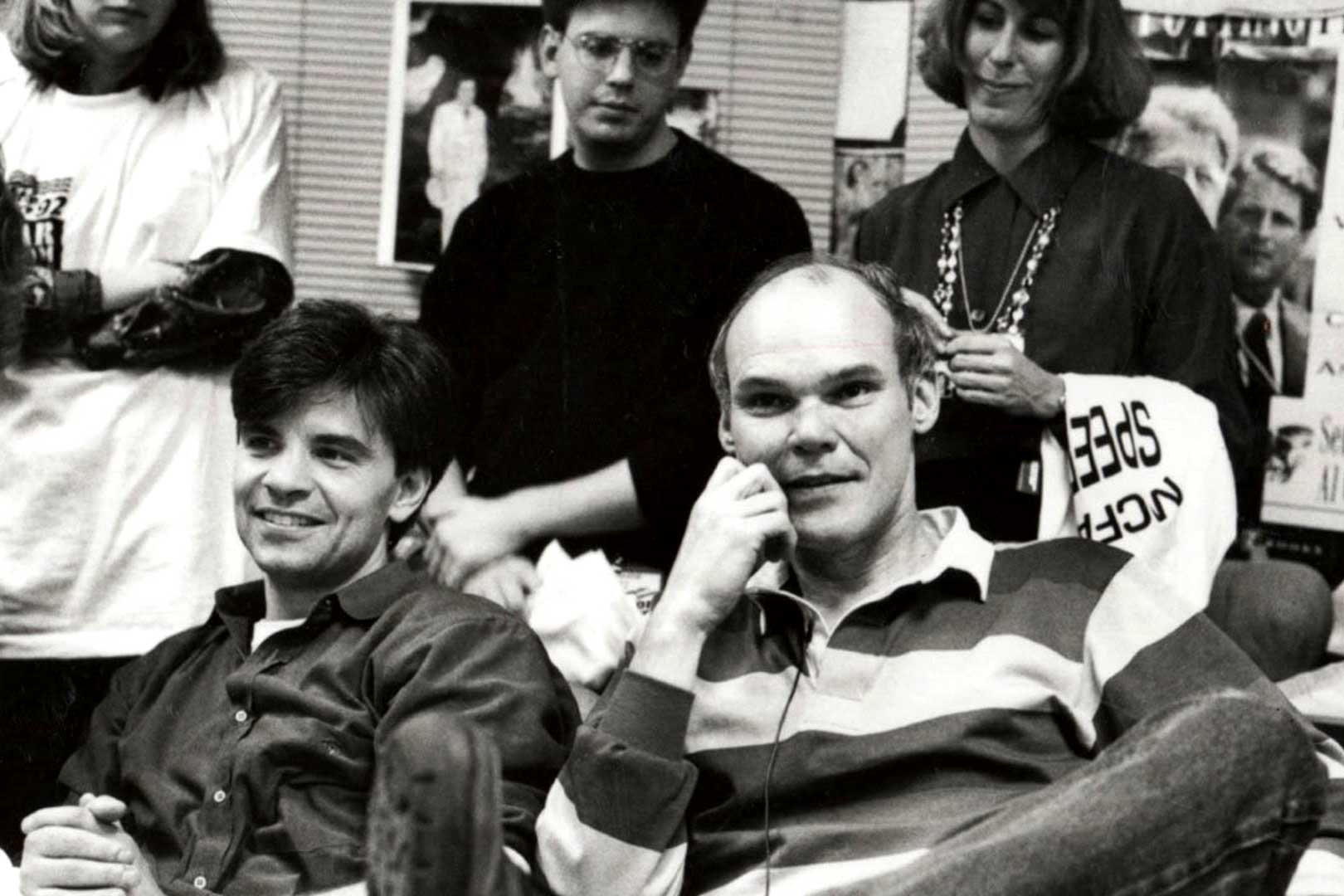 """The War Room"" follows Bill Clinton's communication director George Stephanopoulos, shown at left, and campaign strategist James Carville, right, during the 1992 campaign."