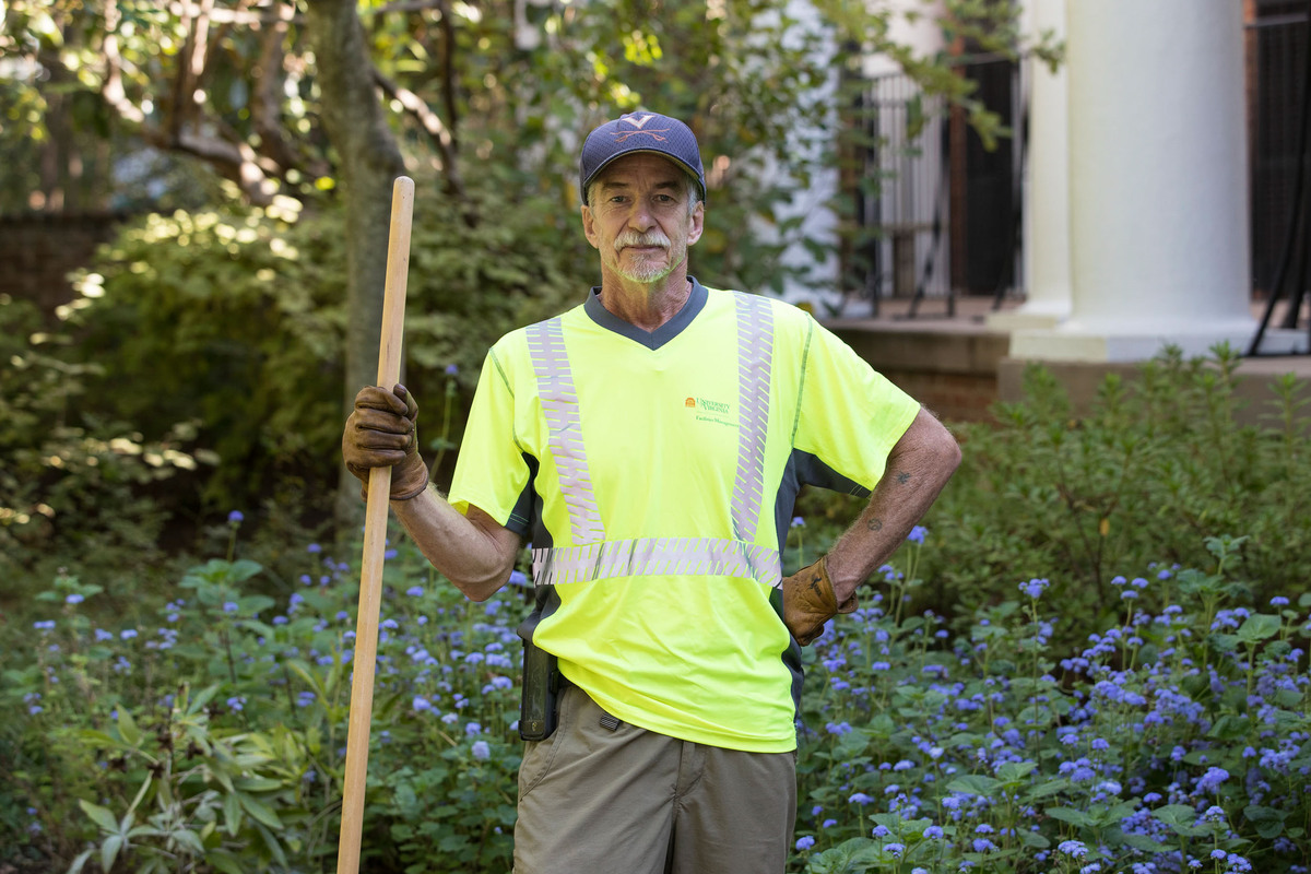 Gardener Tim Andrus has made it a personal goal to learn the names of the 200-plus species of plants throughout the University gardens this year.