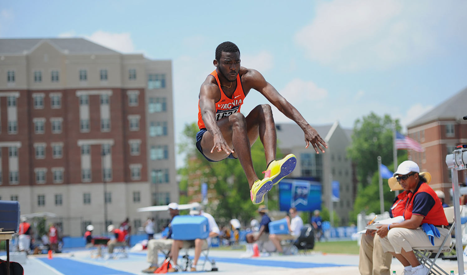 Triple jumper Jordan Scott was one of six Cavaliers to qualify for the NCAA Championships in East Region competition this weekend.