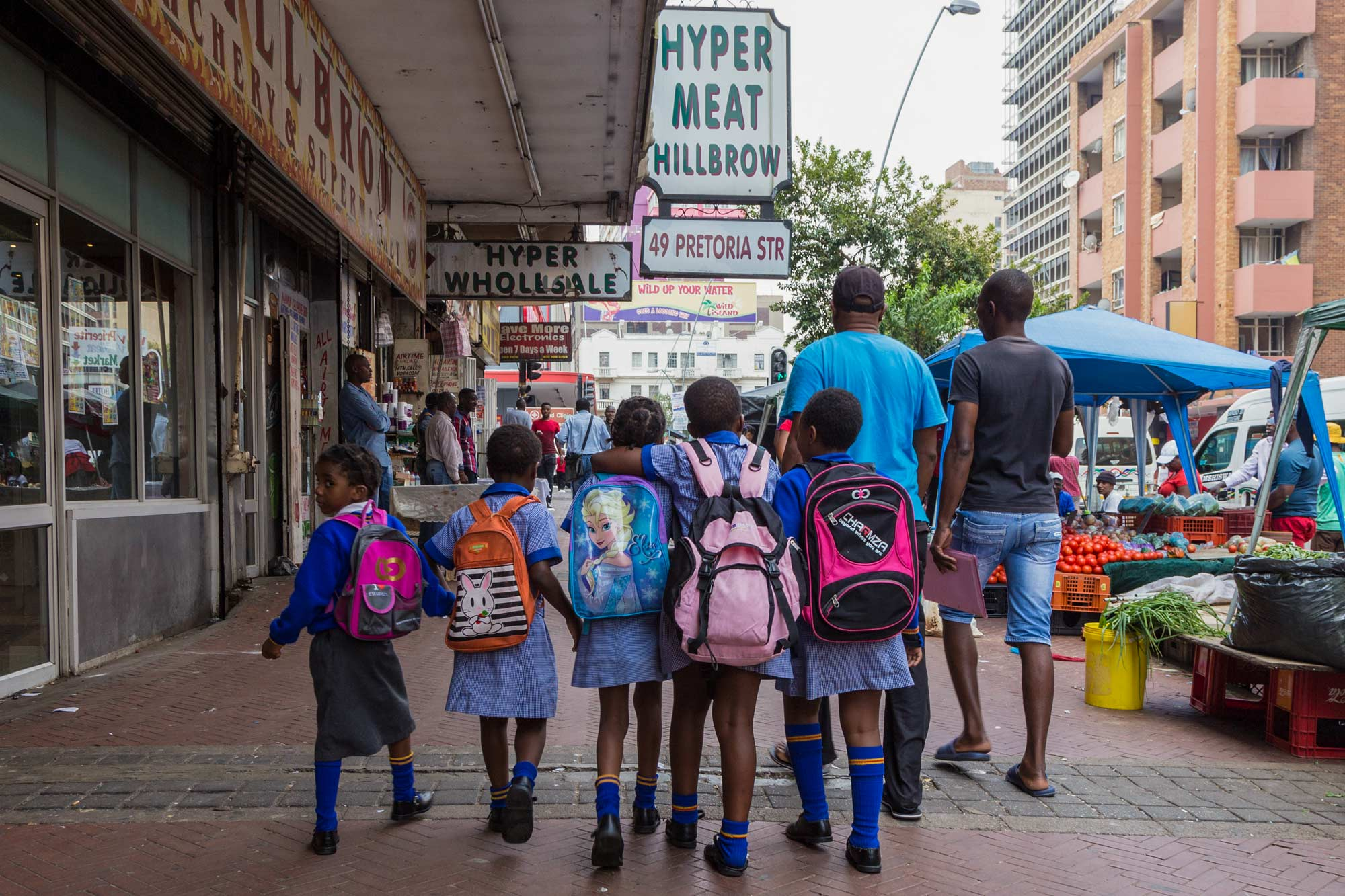 In addition to far-flung destinations, many of Mason's photos document daily life on the streets of Johannesburg. (Photo by Heather Mason)