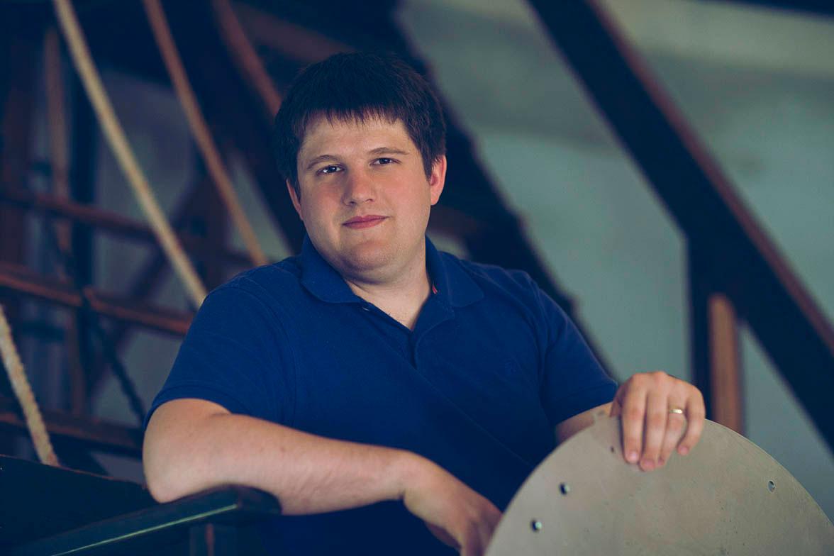 Graduate student Nicholas Troup
