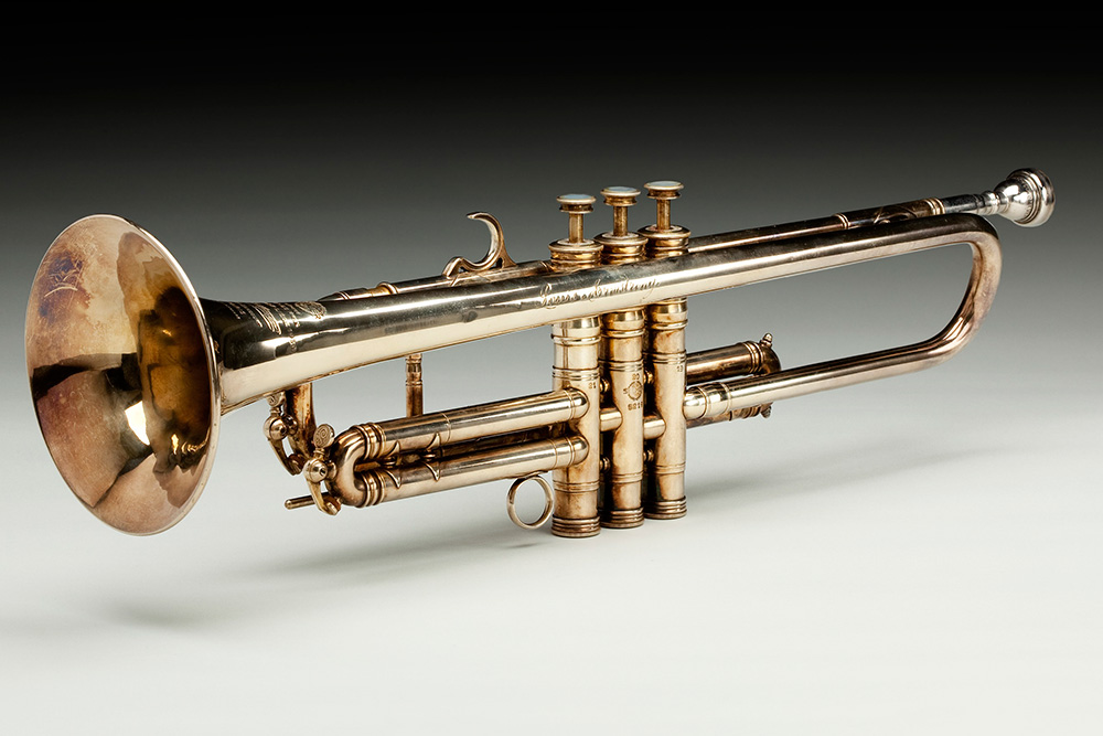 "Louis Armstrong's trumpet is one of the most recognizable artifacts on display in the ""Musical Crossroads"" exhibit. Lewis said he is still amazed every time he sees it."