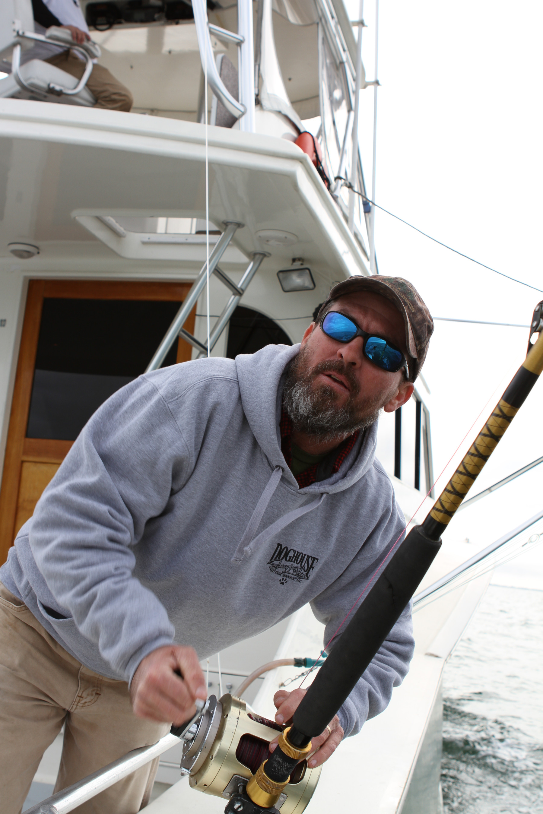 "Boating a big tuna is ""a straight adrenalin shot to the jugular,"" UVA alumnus Britton Shackelford said."