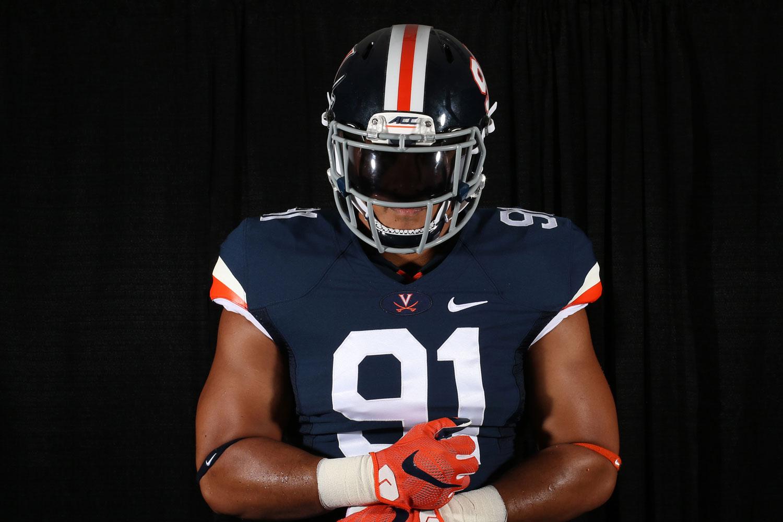 University of Virginia football players will also wear new uniforms this season. (Image courtesy Virginia Athletics)