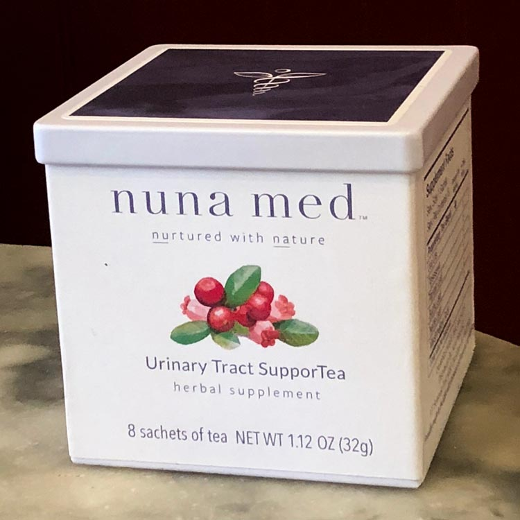 Nuna Med's Urinary SupporTea is based on a formulation that offered Barta relief from antibiotic-resistant urinary tract infections.