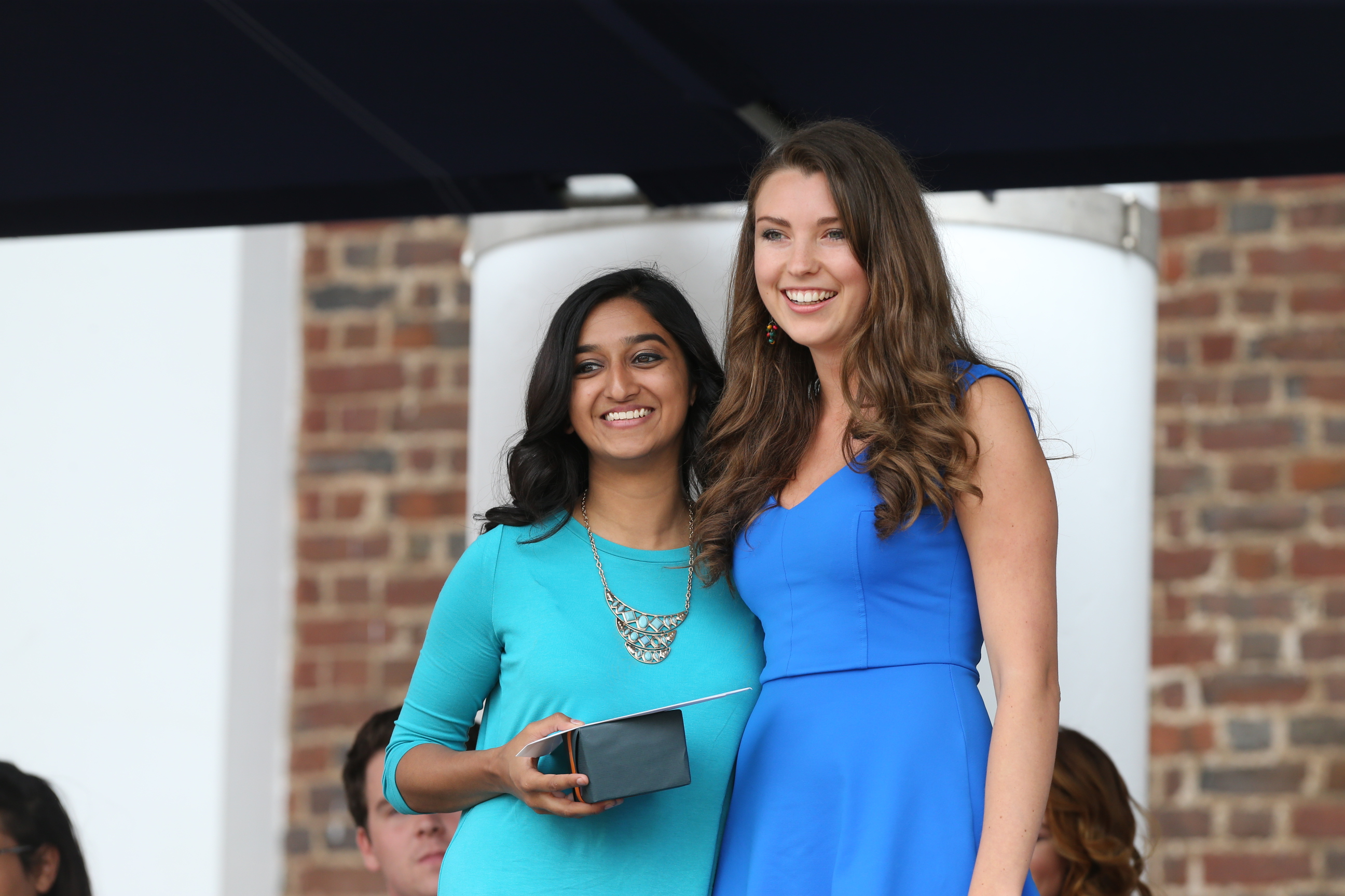 Mayura Iyer, left, received the Class Award for Cultural Fluency.