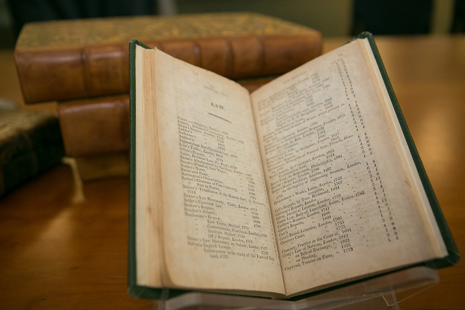 Books from Thomas Jefferson's 1828 Catalogue, shown here, will now be digitized and made available online.